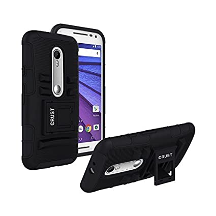 check out 68a8f 5bbc8 Crust Armor Kick Stand Back Cover For Motorola Moto G3 / Moto G Turbo  Edition / Moto G (3rd Gen), Shock Proof Dual Layer Hybrid Hard & Soft Case  - ...