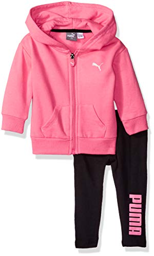 (PUMA Baby Girls' Fleece Hoodie Set, Knock Out Pink 3-6M)