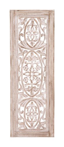 benzara classy unique styled wood wall panel - Decorative Panels