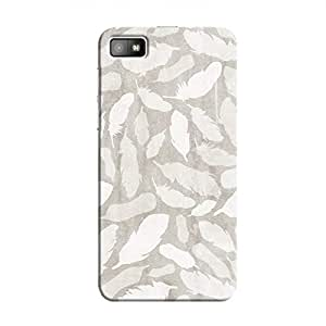 Cover It Up - Feather Grey Print BlackBerry Z10 Hard Case