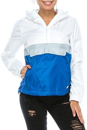 Blue Womens Windbreaker (UPSCALE Women's Windbreaker Jacket Blue L)