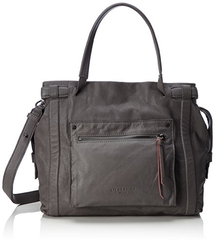 Liebeskind Berlin Virginia Sporty - Shoppers y bolsos de hombro Mujer Marrón (Street Grey)
