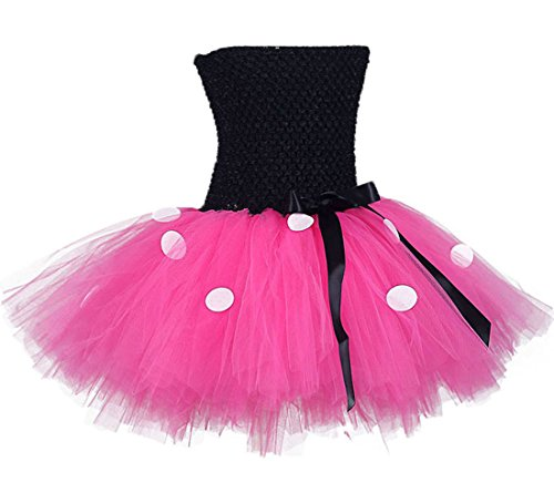 Tutu Dreams Valentines Day Baby Girls' Tutu Dresses With Headband Set (S, Hot Pink)
