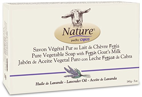 Nature by Canus, Fresh Goat's Soap - Milk Vegetable Based Soap Bar, Lavender Oil with No Parabens, Phosphates. Health Care Products