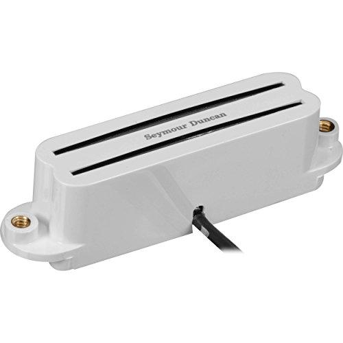 Seymour Duncan SHR-1B Hot Rails Strat Single Coil Bridge Pickup White 11205-02-W w/Bonus RIS Pick (x1) 800315003020