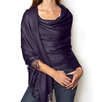 Dark Navy Blue pashmina style shawl \/ scarf \/ Wrap: Amazon.co.uk: Clothing
