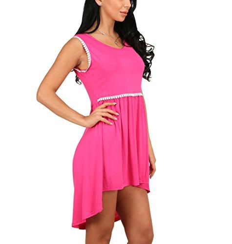 CoCo fashion - Vestido - trapecio - para mujer Rosso