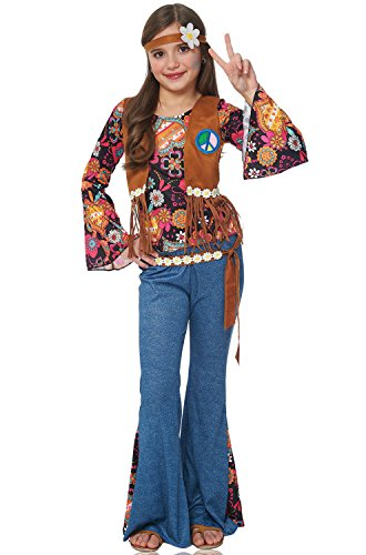 Girl's Peace Out Hippie Costume - M -