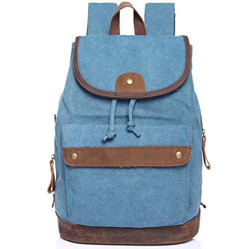 Las Para Fs Paquete Vintage Clásico Mujeres Lona Casual De Escuela Daypack Pequeña Viaje Mochila Y wg Azul Niñas Owq47OF