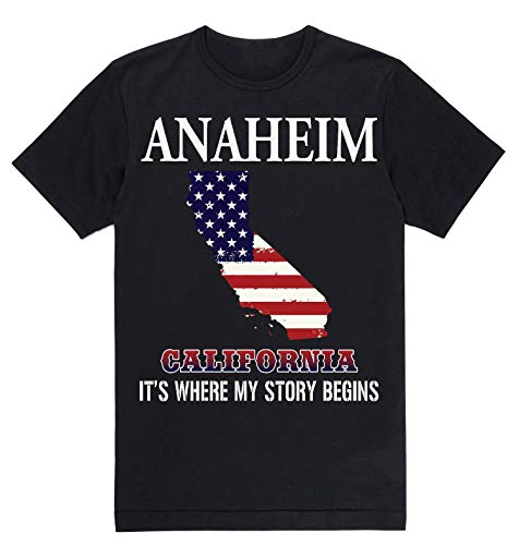Lovely Decorations Independence Day Shirt - Anaheim California CA It's Where My Story Begins Black -