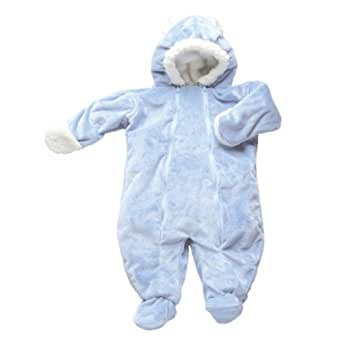 i play. Soft And Snuggly Cuddlesuit, Blue, Small