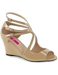 Pleaser Womens Kim04/Cr Wedge Sandal