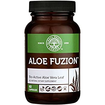 Global Healing Center Aloe Fuzion Bio-Active Aloe Vera Leaf Supplement | 200x Concentrate Formula Made from Organic Aloe with Highest Concentration of ...