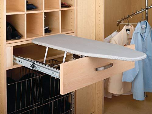 Rev-A-Shelf Pullout Ironing Closet Ironging Board Gray