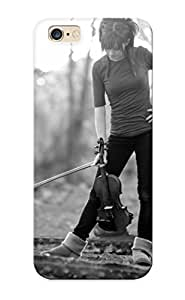Christmas Day's Gift- New Arrival Cover Case With Nice Design For Iphone 6 Plus- Lindsey Stirling Music Musician Violin Musical Instrument Black White Women Females Girls Babes Sexy Sensual Nature Trees Landscapes