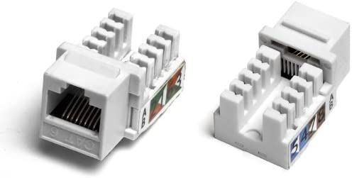 WHITE 25 Pack Purex Technology Cat.6 Punch Down Keystone Jack