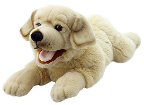 The Puppet Company Playful Puppies Labrador - Yellow Hand Puppet (Hand Puppy Puppet)