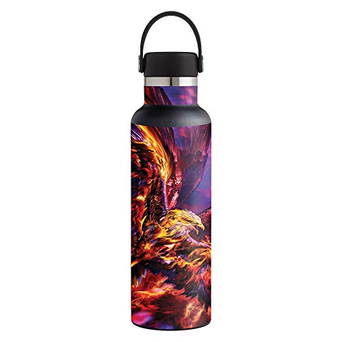 - MightySkins Skin Compatible with Hydro Flask 21 oz. Standard Mouth - Phoenix Rising | Protective, Durable, and Unique Vinyl Decal wrap Cover | Easy to Apply, Remove | Made in The USA
