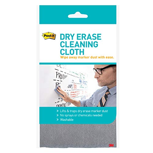 (3M Post-It Dry Erase Cleaning Cloth, Grey, White)