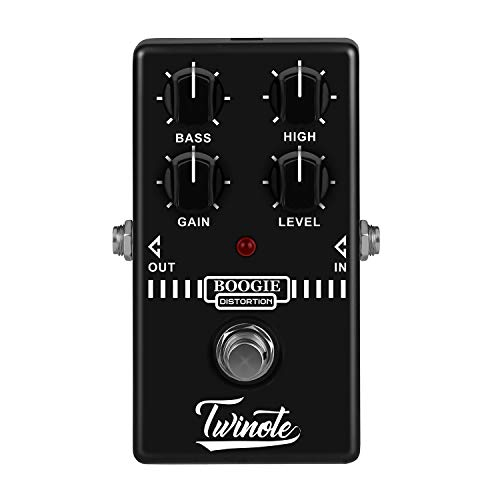 (Twinote Guitar Pedal Distortion Analogue Circuit Old School Distortion Effects Pedal MESA Boogie MK Series AMP simulator for Electric Guitar, Exclude Power Adapter )
