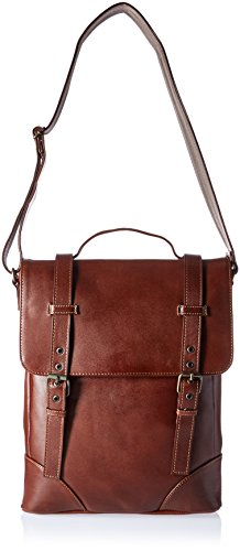 Deluxe Vertical Leather Case (Piel Leather Deluxe Vertical Briefcase Brn, Brown)