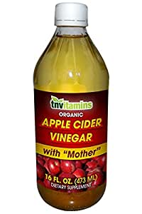Organic Apple Cider Vinegar with Mother- 16 Fluid Oz.
