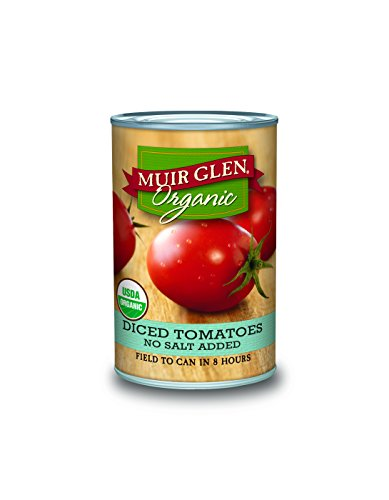 Muir Glen Tomato Sauce (Muir Glen Canned Tomatoes, Organic Diced Tomatoes, No Salt & No Sugar Added, 14.5 Ounce Can (Pack of 12))