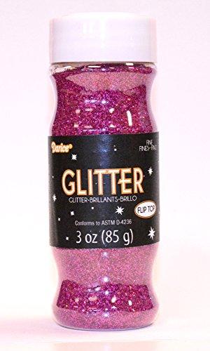 Darice 3 oz Fine Glitter in a Jar, Fuchsia