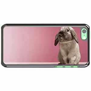 iPhone 5C Black Hardshell Case rabbit spotted look Desin Images Protector Back Cover