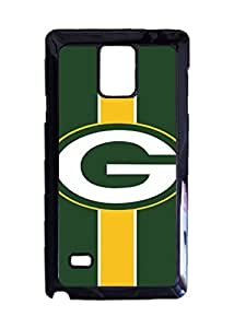 Green Bay Packers Football Custom Image Case, Diy Durable Hard Case Cover for Samsung Galaxy Note 4 , High Quality Plastic Case By Argelis-Sky, Black Case New