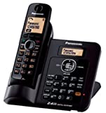 Panasonic Single Line 2.4GHz KX-TG3811SX Digital Cordless Telephone (Black)