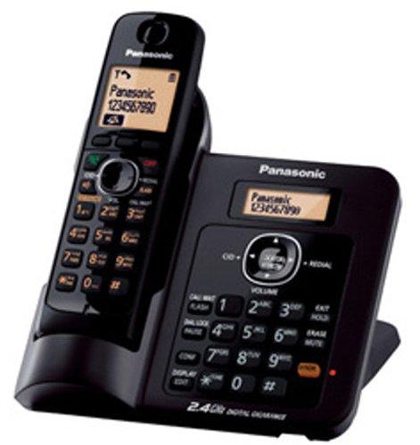 Panasonic Single Line 2 4GHz KX-TG3811SX Digital Cordless Telephone (Black)