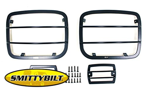 Head Flare Brush (Brightt (S/B-YYC-739) Euro Headlight Guard fits Jeep Wrangler 1987-1995)