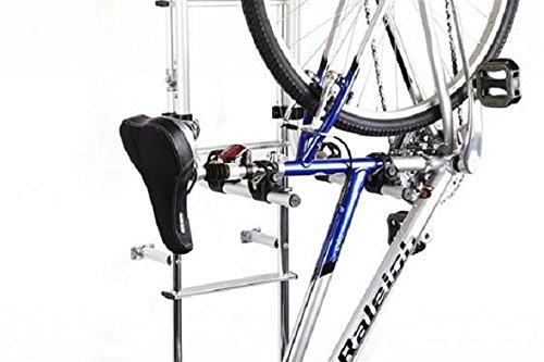 RV Ladder Mount Bike Rack Holder Holds 2 Bikes Frame Clamp Aluminum 50 Pound Weight Capacity