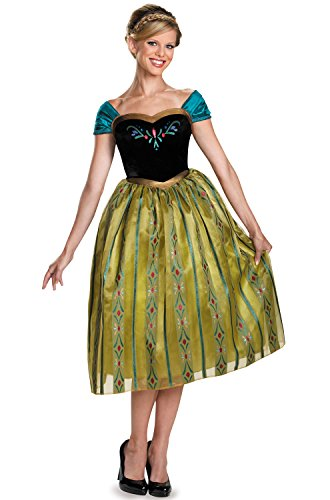 Disguise Women's Anna Coronation Deluxe Adult Costume, Multi, (Deluxe Anna Costumes)