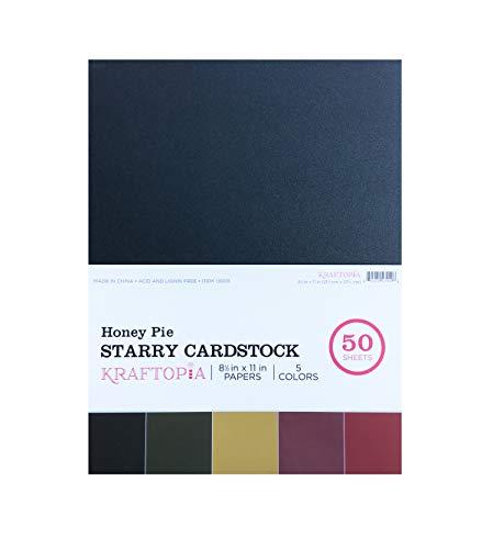 Kraftopia, Honey Pie Starry CardStock, 8. 5 X 11-50 Sheets