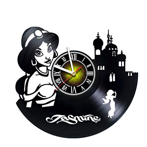 Toffy Workshop Princess Jasmine - Vinyl Wall Clock - Get Unique Gifts Presents for Birthday, Christmas, Ideas for Boys, Girls, Men, Women, Adults, him and her - Sport Unique Art Design
