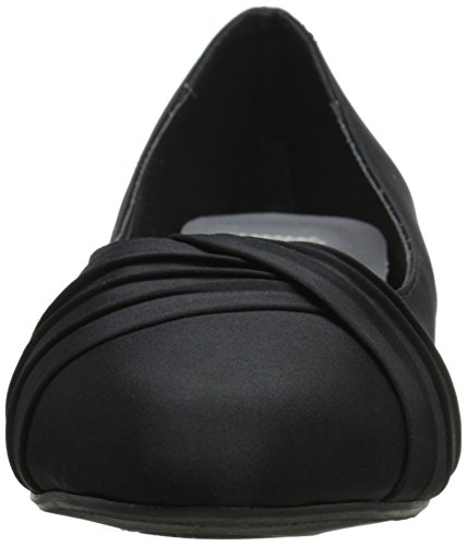 Dress Dyeables Inc Womens Black Rue Pump Women's Satin rqIOSq