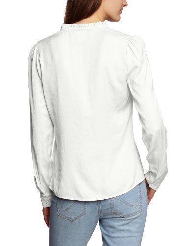 Vila - Blusa de manga larga para mujer Blanco