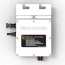 WV230 Waterproof Wide Voltage Inverters Solar Grid-tie Micro Power Inverter Converter Pure Sine Wave Output Inverter Charger (Input 22-50V DC, Output 80-160V AC)