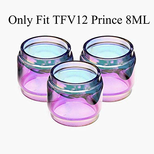 - CENGLORY 3PCS Replacement Bulb Glass Tube 8ml Capacity for TFV12 Prince (Rainbow)