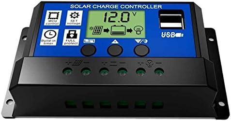 Iycorish 30A 12 V / 24 V LCD Intelligenz Auto Regulieren PWM Solar Batterie Laderegler