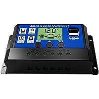 SODIAL 30A 12V / 24V Controlador de carga d bateria solar PWM regular auto inteligencia LCD