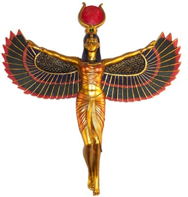 Winged Isis Egyptian Goddess of Motherhood and Magic Wall Hanging ()