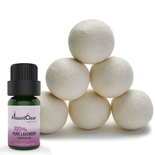Mountclear Scented Oil Softener-All Natural,Chemical and Hypoallergenic Reusable Balls-Shorter Drying Time Money-Laundry Balls