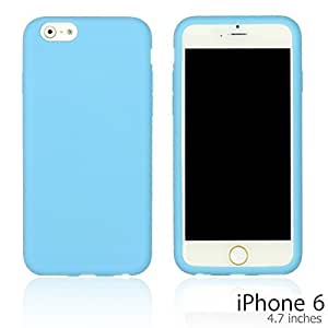 OnlineBestDigital - Colorful Soft Silicone Case for Apple iPhone 6 (4.7 inch)Smartphone - Light Blue