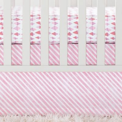 (Serena & Lily Crib Skirt Candy Stripe Pink)