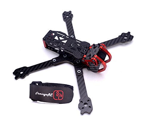 FPVDrone 225mm FPV Racing Drone Frame Dragon X5 Carbon Fiber Quadcopter Frame 5 Inch True X 6061 Aluminum Parts Adjustable + 20cm Lipo Battery Strap
