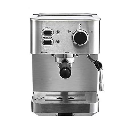 YAMEIJIA Máquina de café exprés de Acero Inoxidable para el hogar ...
