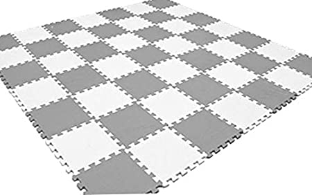 20Pc 31.5X 31.5x1cm 10mm Thicknes HIGH Quality Grey White Kids Playmat Floor Matting Foam Garden Fitness Nursery Mat